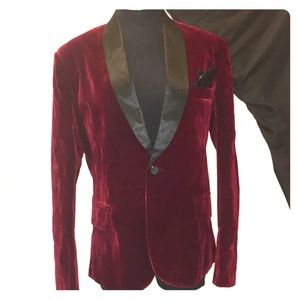 Other - Red velvet vintage style smoking jacket